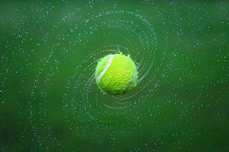 La photo d'une balle de tennis