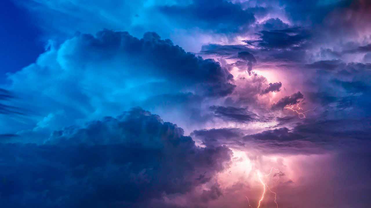 La photo d'un orage