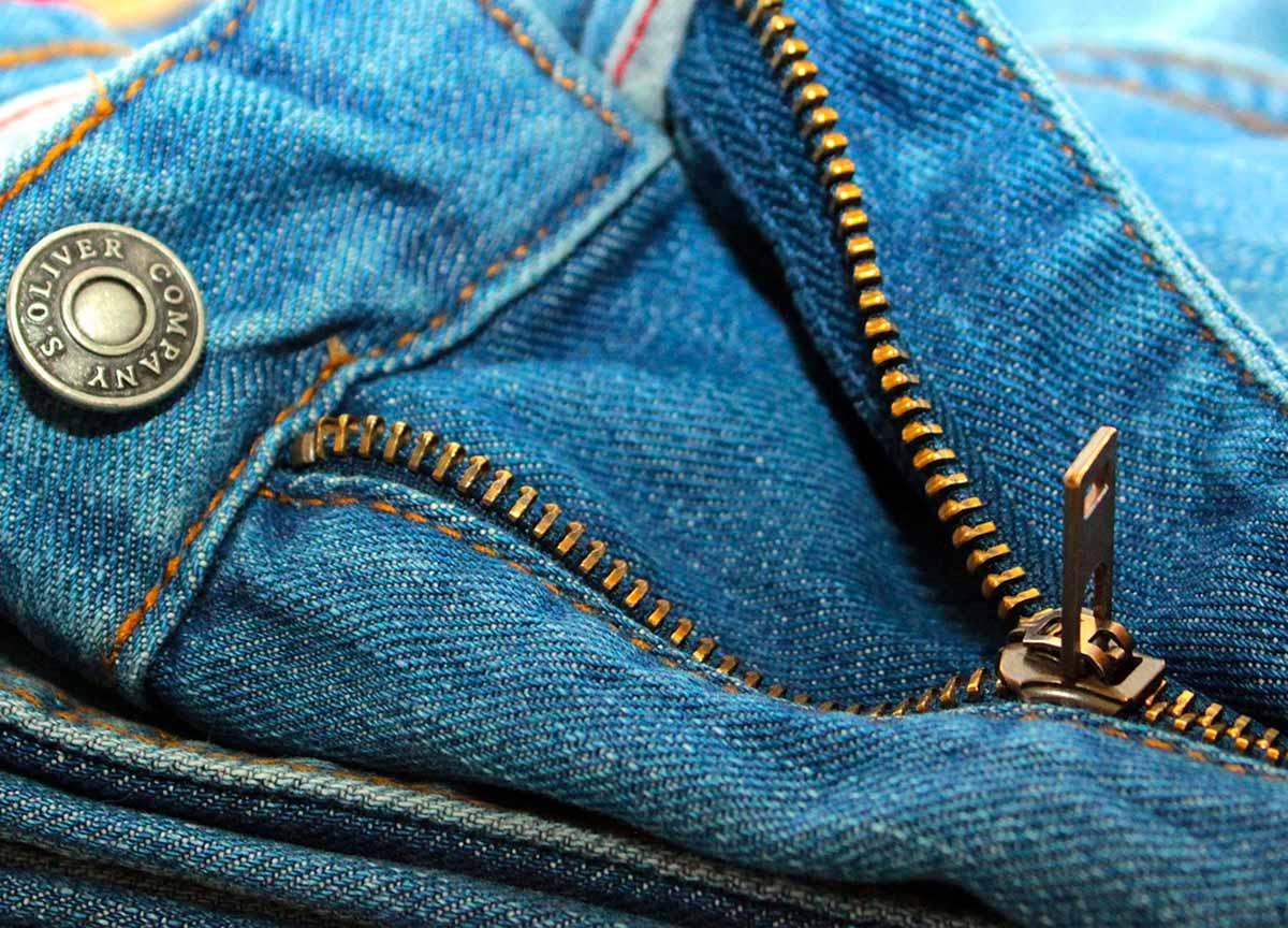 La fermeture éclair d'un jean's