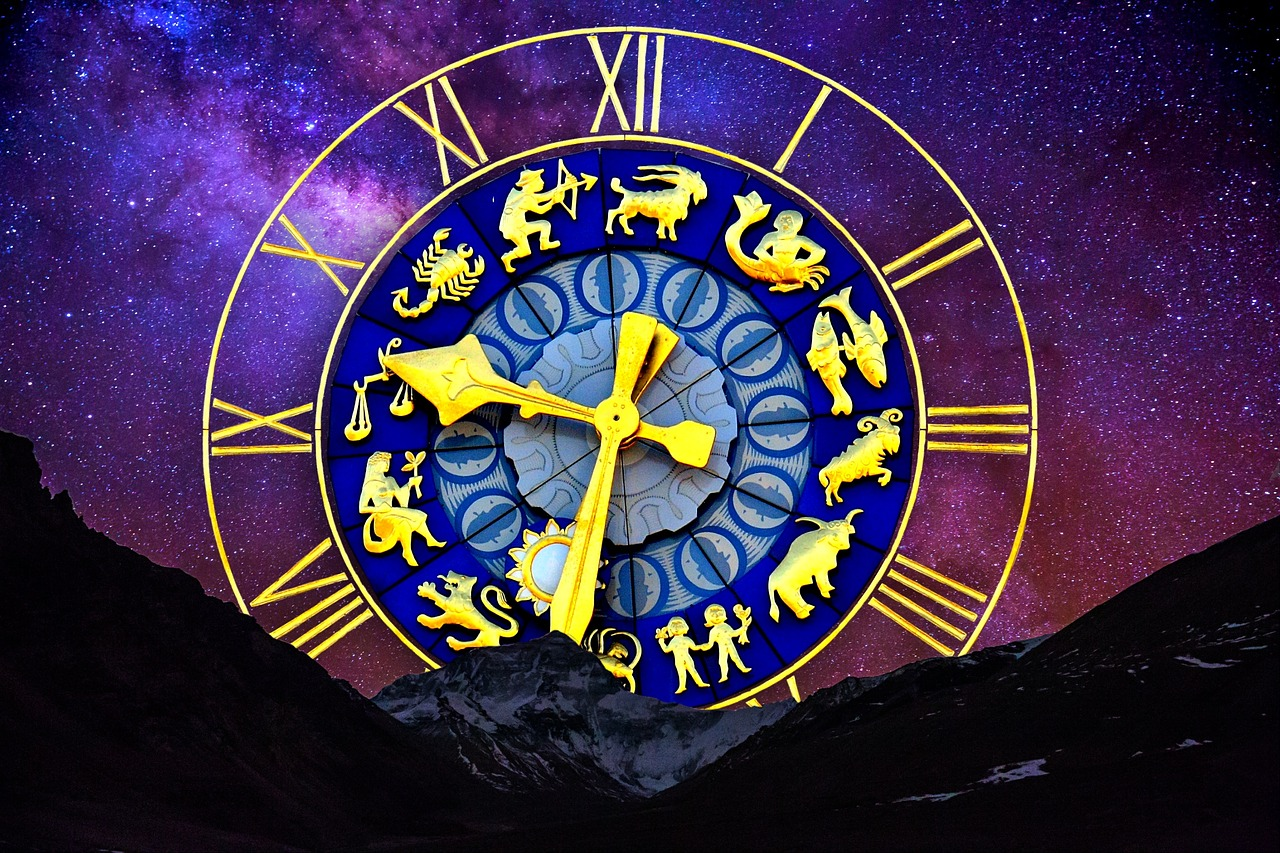 La photo d'une horloge