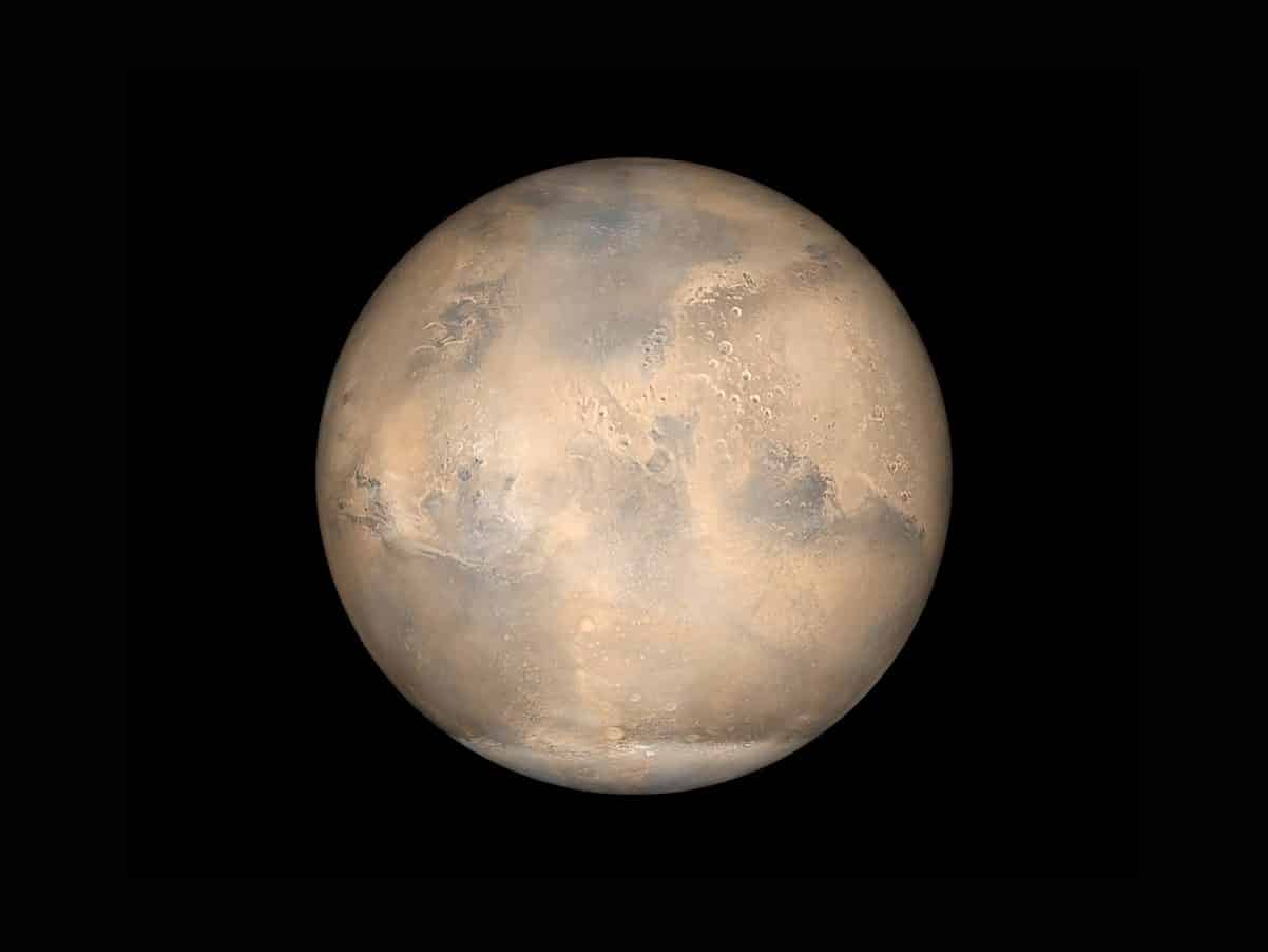 La planète Mars, perdue dans l'espace