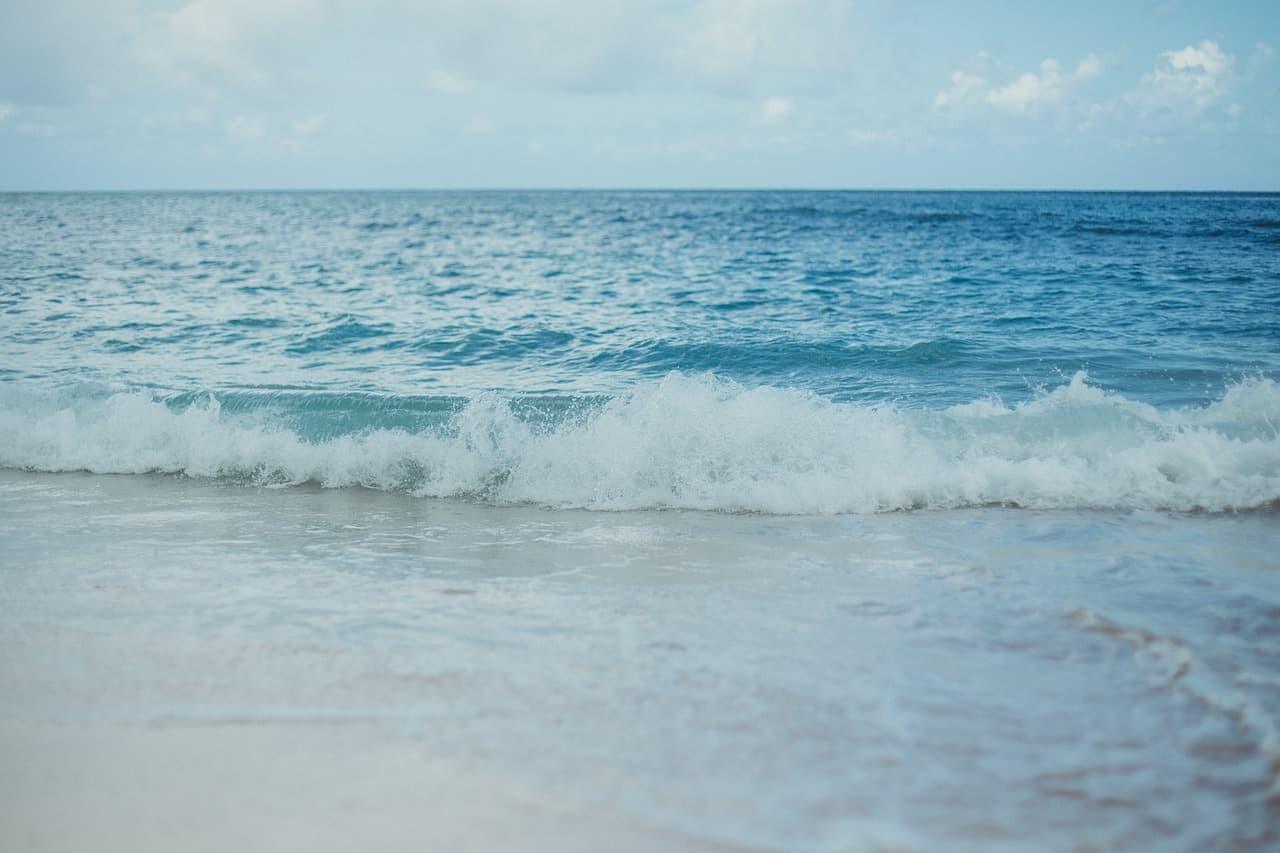 Une photo de l'océan