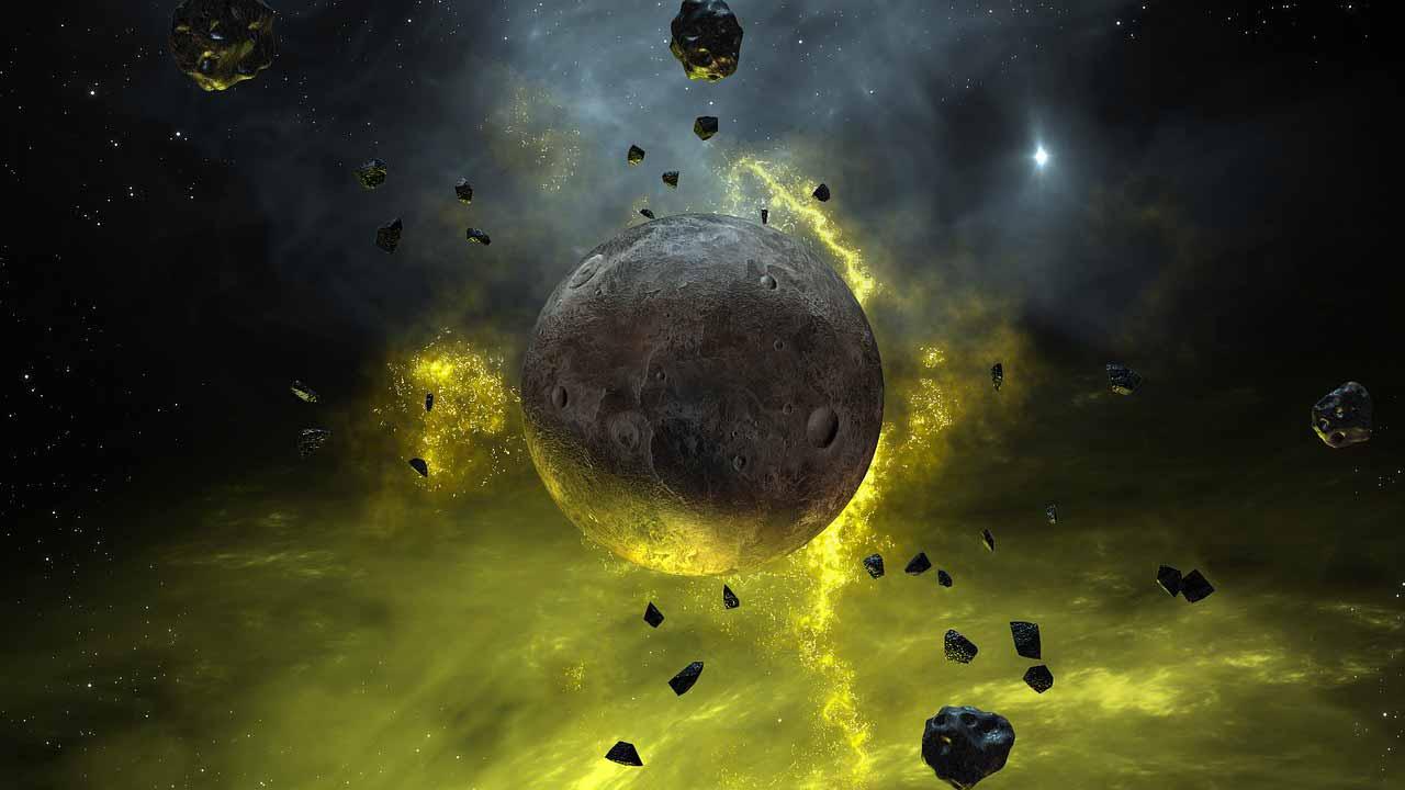Une planète flottant dans l'espace