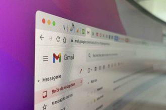 Une photo de Gmail, le service web