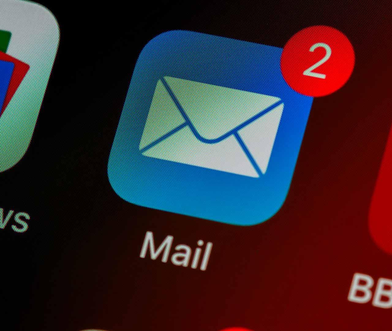 L'icône de Mail sur un iPhone ou un iPad