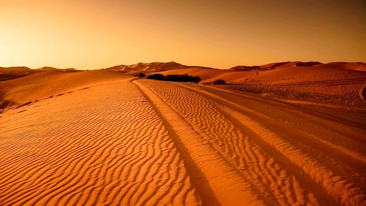 La photo d'un désert