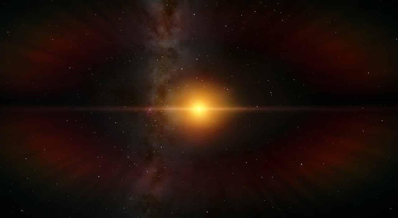 Une étoile perdue dans l'espace