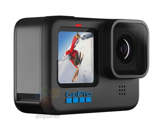 La GoPro HERO 10 vue de face
