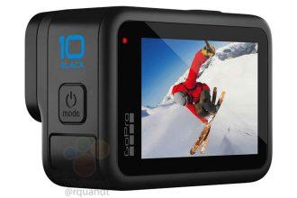 La GoPro HERO 10 vue de dos