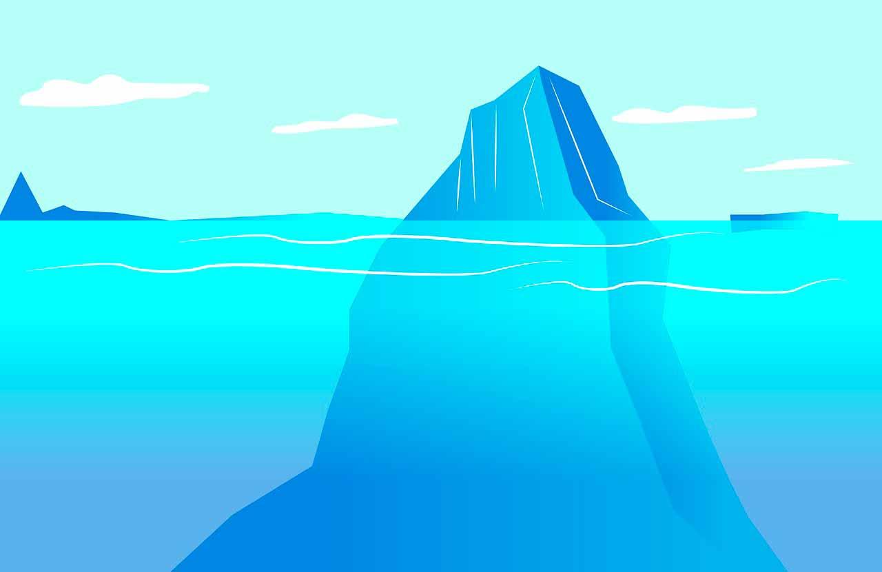 Une illustration représentant un iceberg