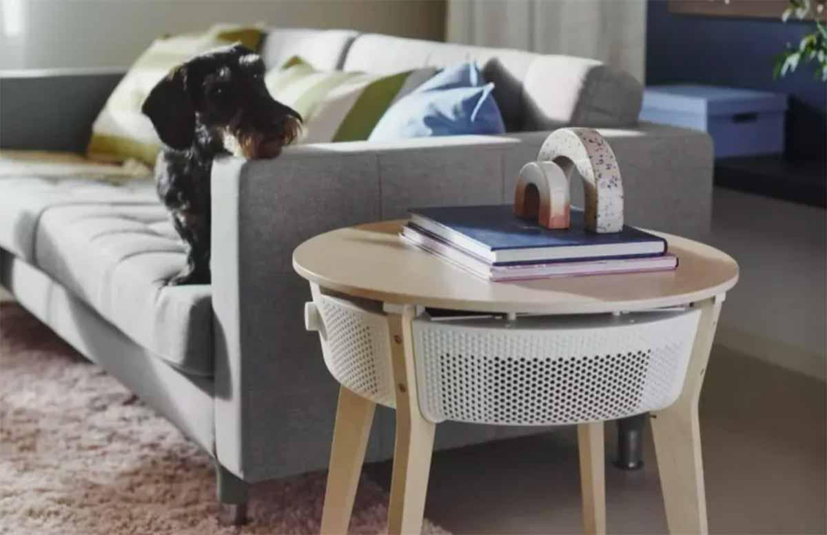 """La version """"table"""" du purificateur d'air d'IkeaLa version """"table"""" du purificateur d'air d'Ikea"""