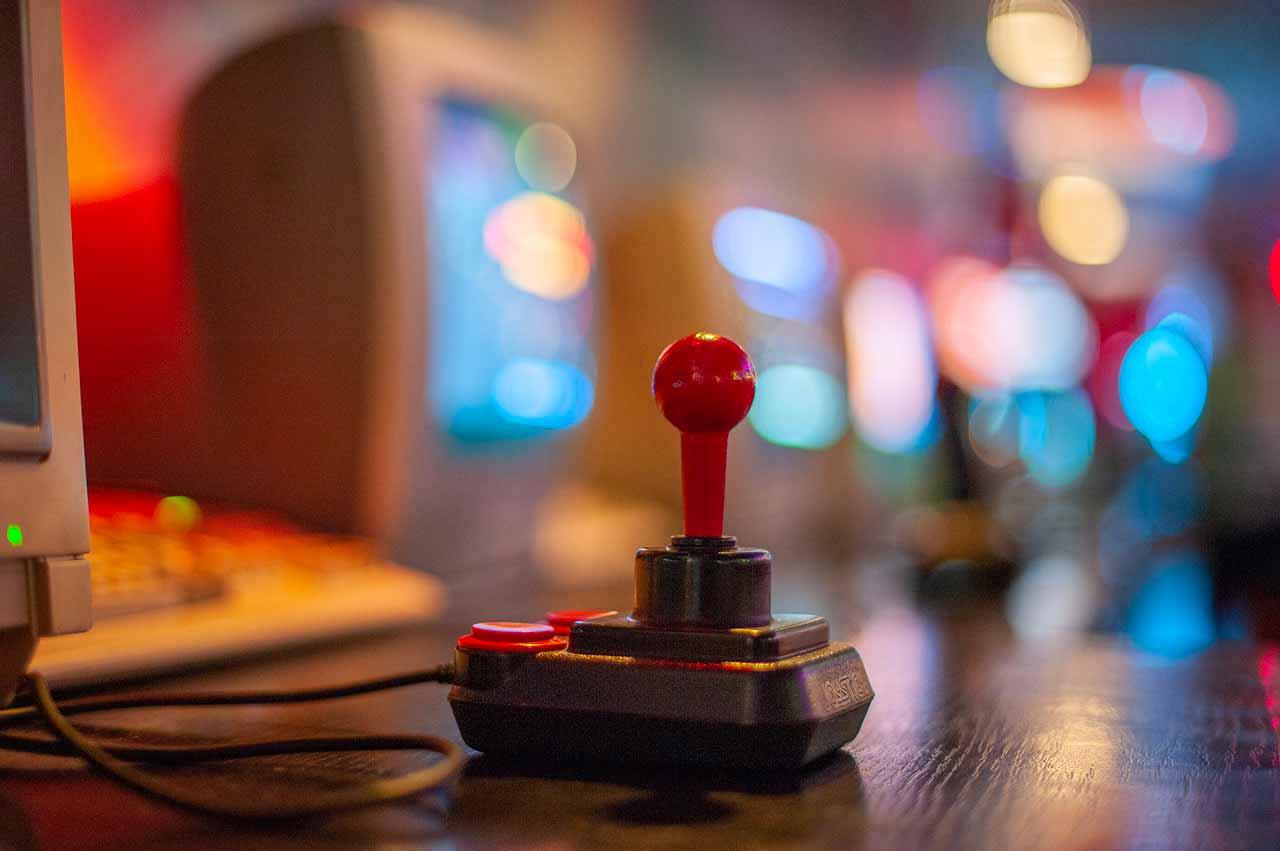 La photo d'un vieux joystick
