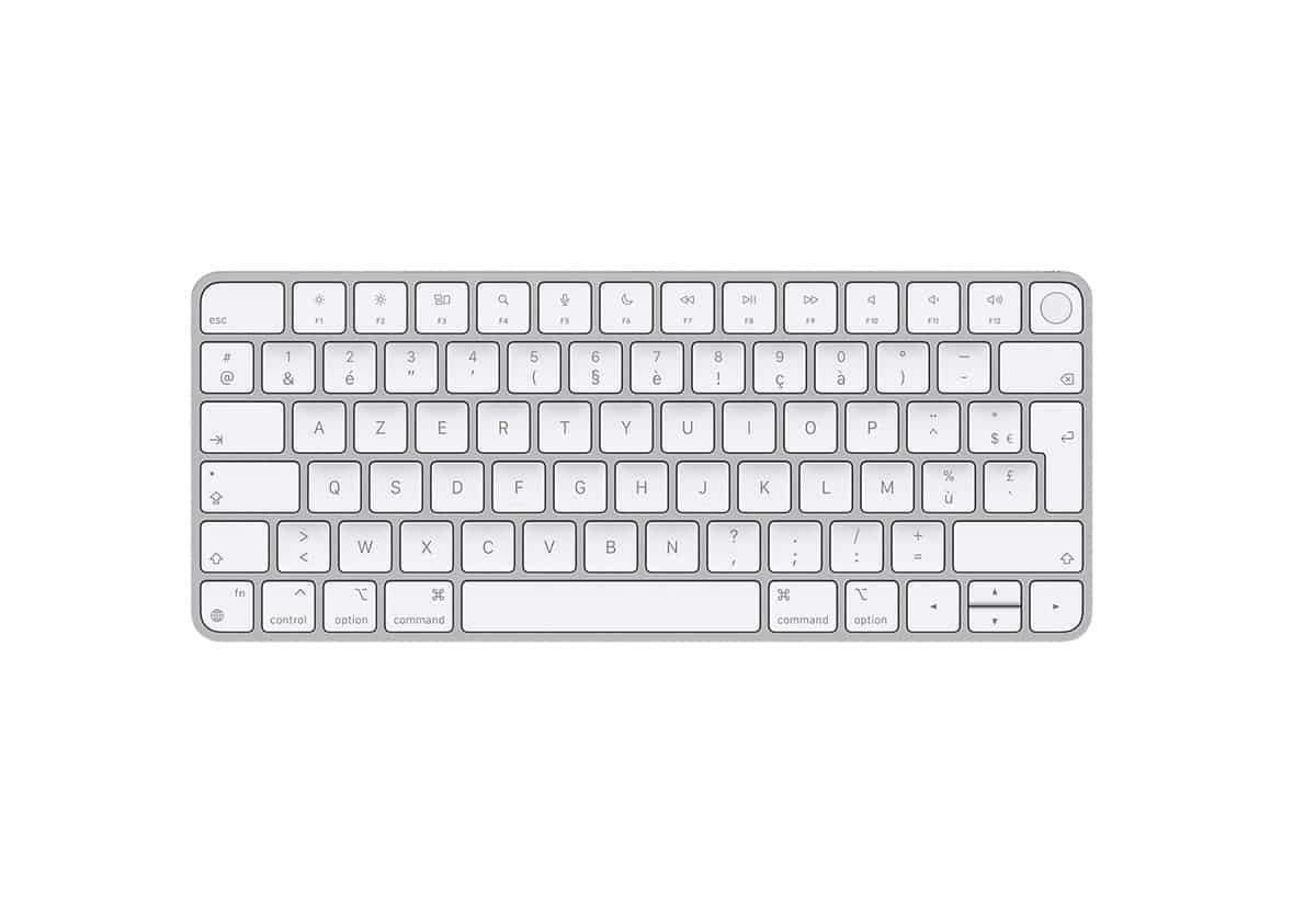 La photo du Magic Keyboard avec Touch ID sans pavé numérique