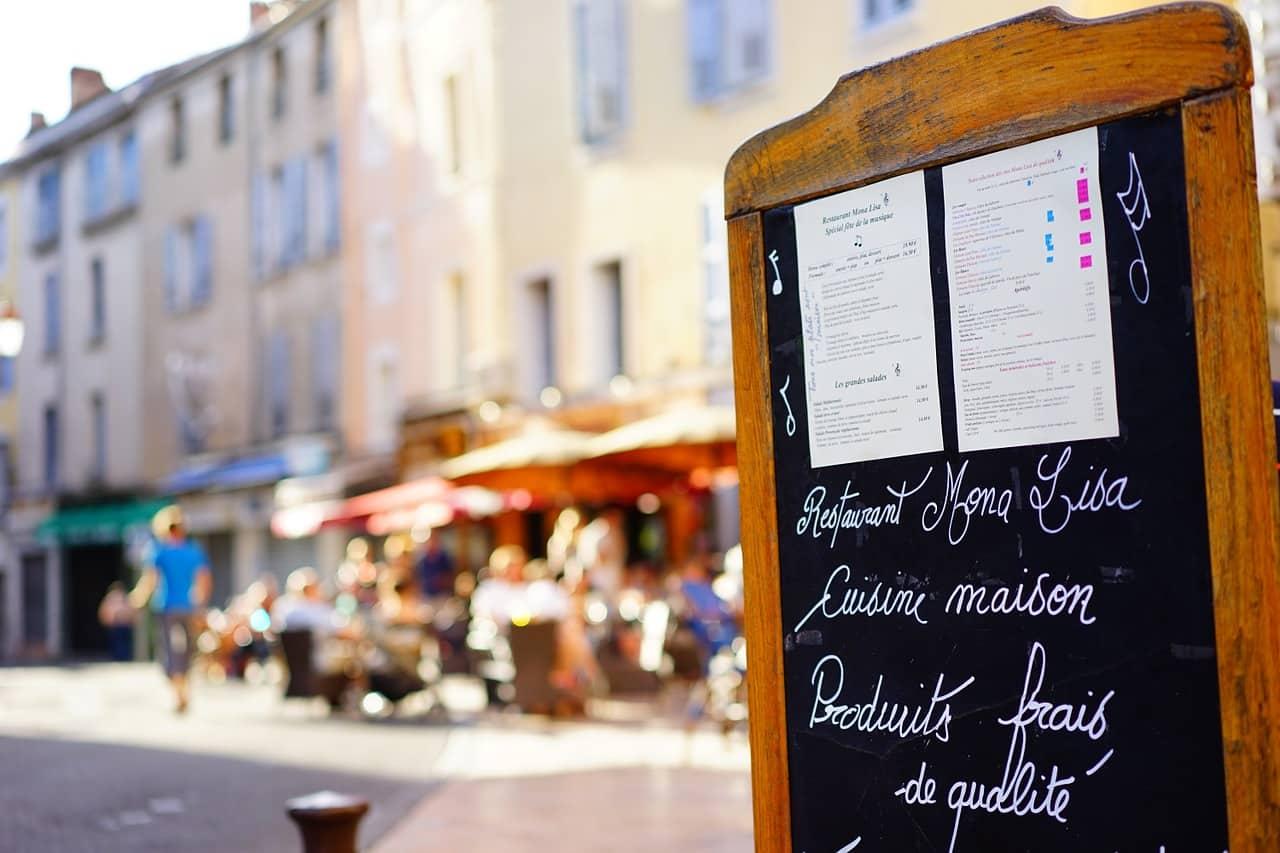 Un menu de restaurant