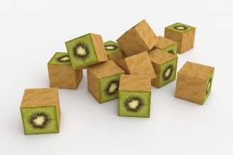Des kiwis en cube