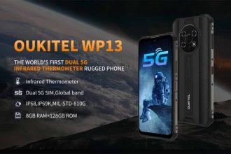 L'Oukitel WP13, un smartphone durci capable de mesurer la température d'une personne ou d'un objet