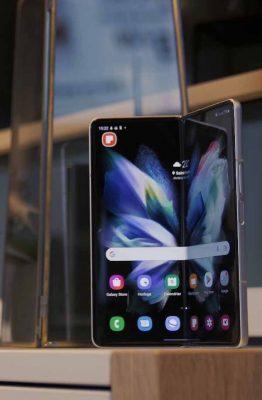 L'écran du Galaxy Z Fold 3 est à tomber