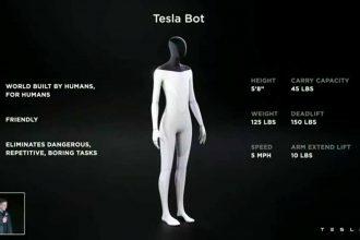 Une image du Tesla Bot