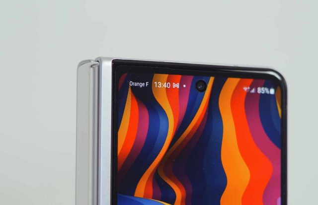 L'écran extérieur du Galaxy Z Fold 3
