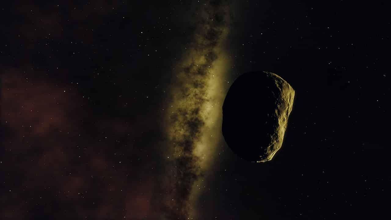 Un astéroïde dans le froid spatial