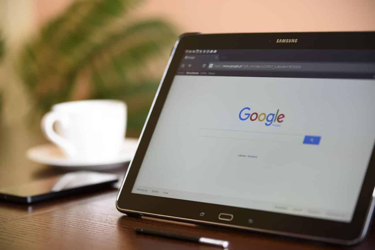 Google sur un ordinateur