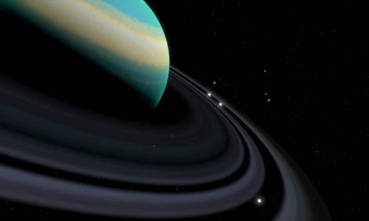 La planète Saturne et sa lune Titan
