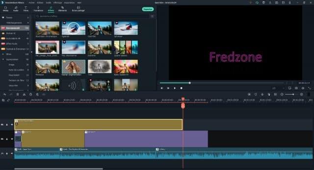 Un large choix d'effets - Crédit : Capture d'écran