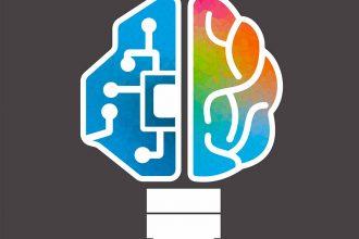 Une illustration représentant un cerveau biologique et robotique