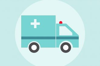 Une illustration représentant une ambulance
