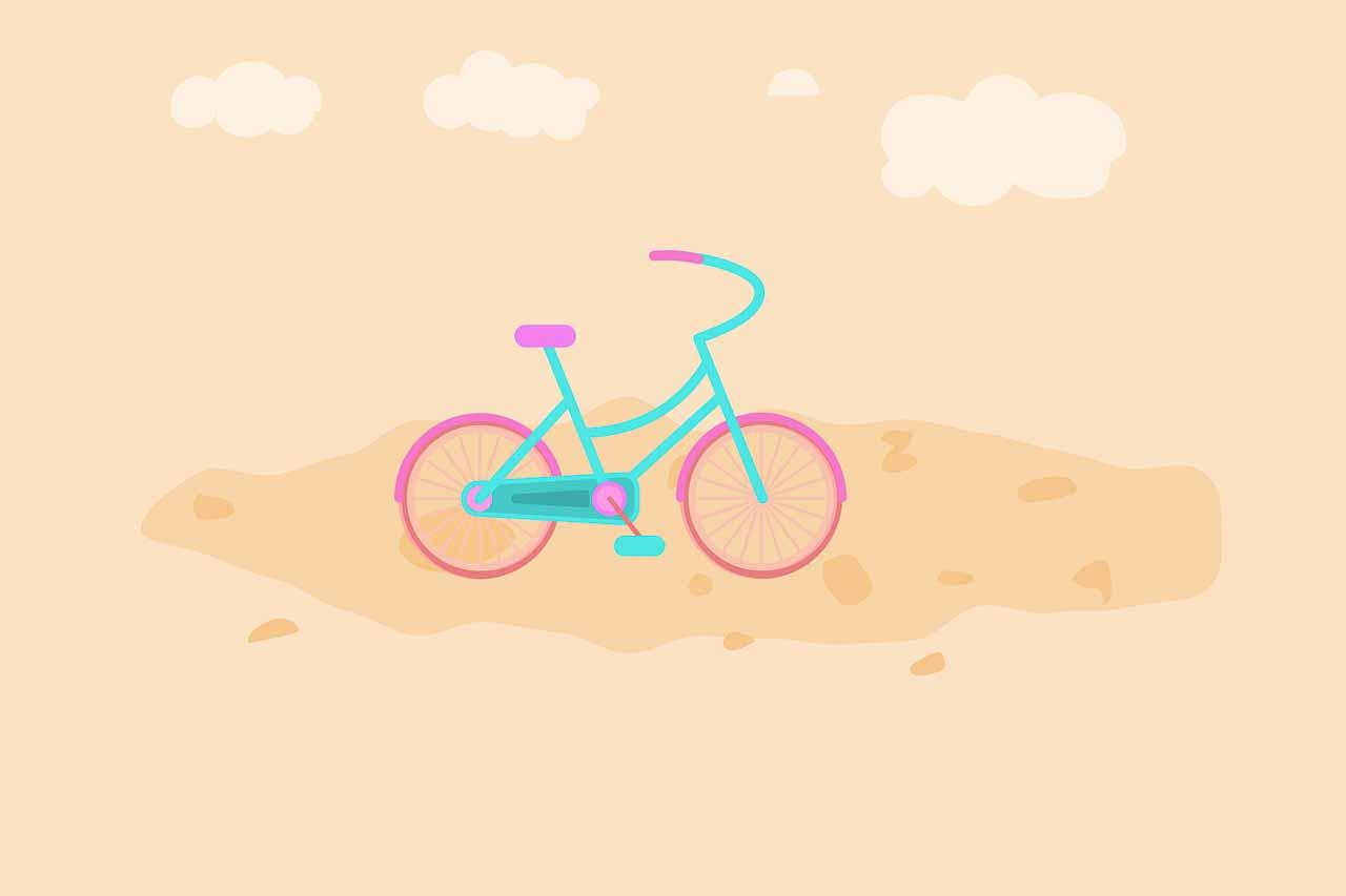 L'illustration d'un vélo