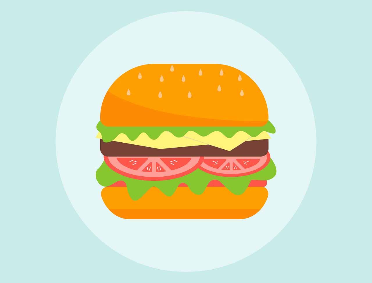 Une illustration représentant un hamburger