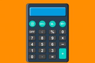 Une illustration représentant une calculatrice