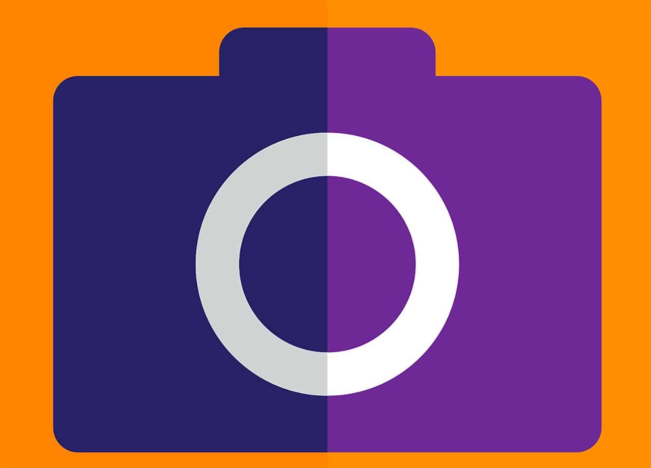 Une illustration représentant un appareil photo