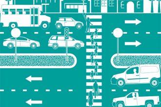 Des voitures circulant en ville