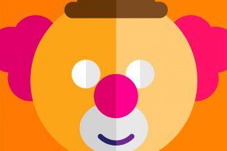 Une illustration représentant un clown