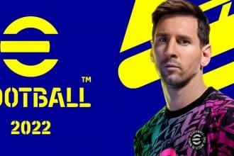 La jaquette d'eFootball 2022