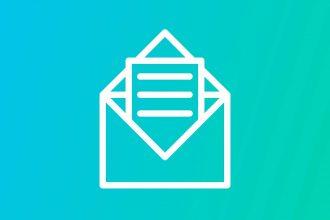 Une illustration représentant un courriel ouvert