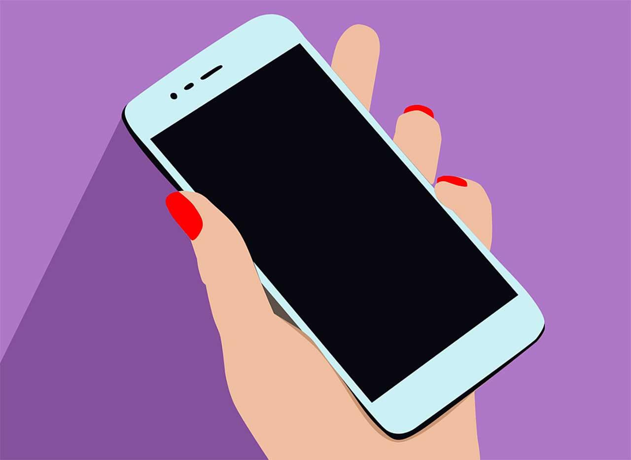 Une illustration présentant un smartphone tenu en main