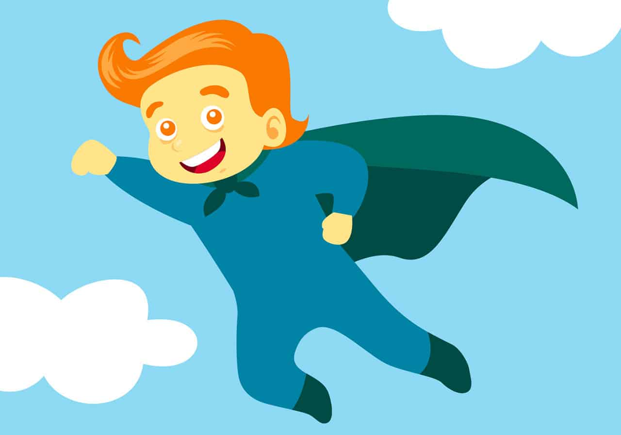 Une illustration représentant un super héros