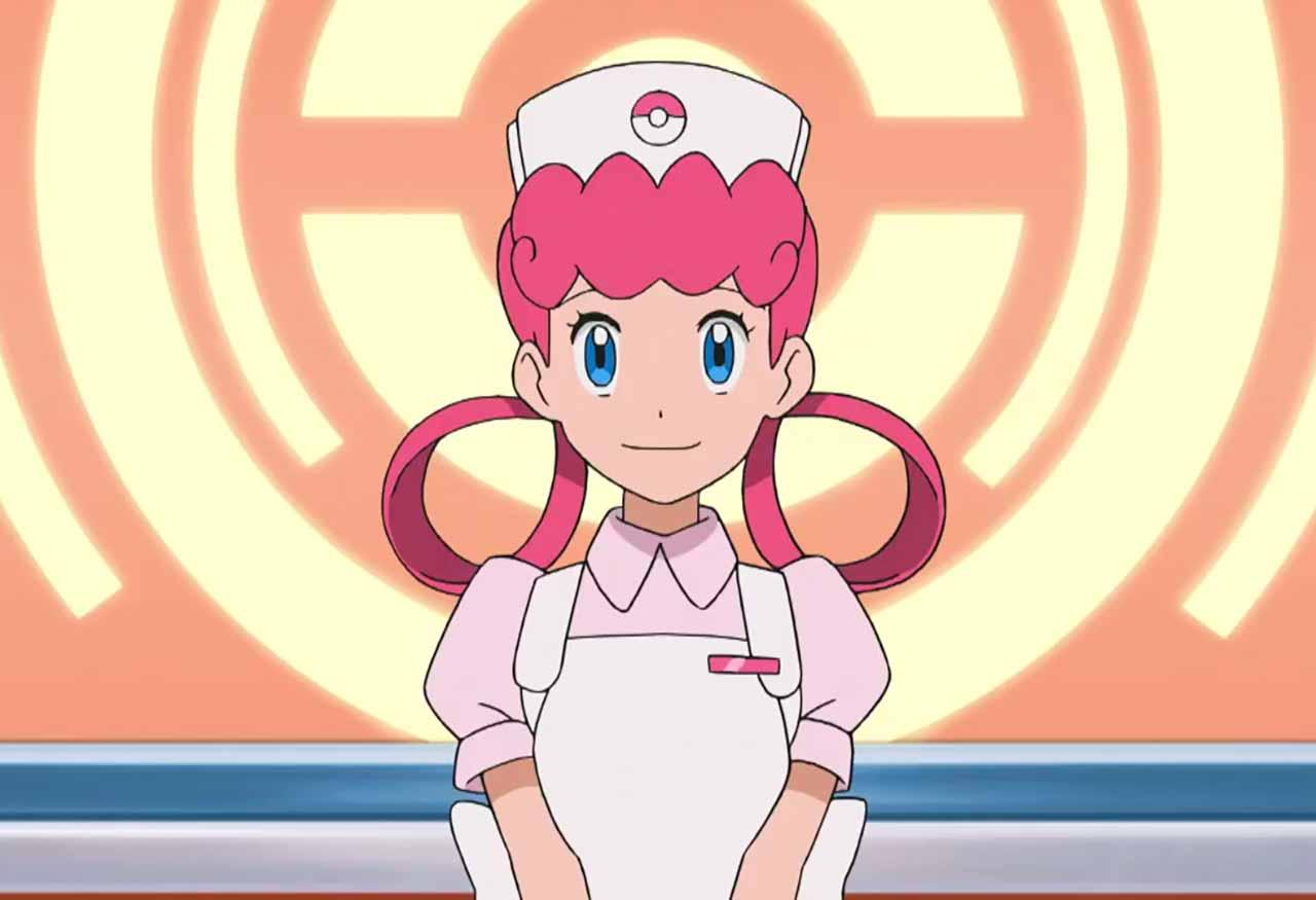 L'infirmière Joëlle dans Pokémon