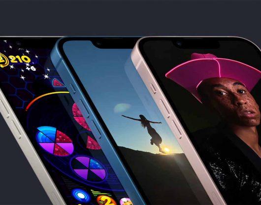 L'encoche des iPhone 13 est plus petite