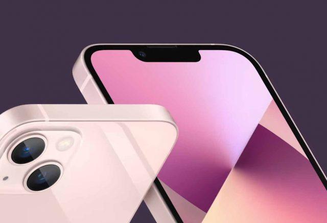 L'iPhone 13 de face et de dos