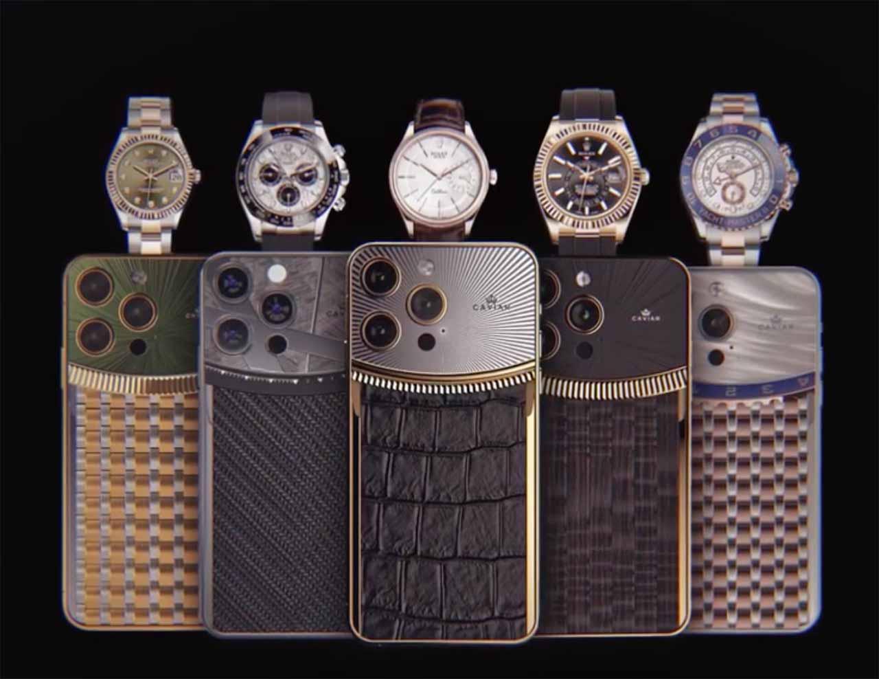 Les iPhone 13 pro de Caviar