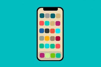 Une illustration représentant un iPhone