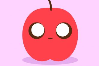 Une illustration montrant une pomme