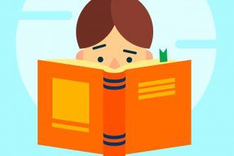Un enfant en train de lire