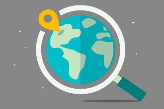 Une illustration représentant un service de cartographie