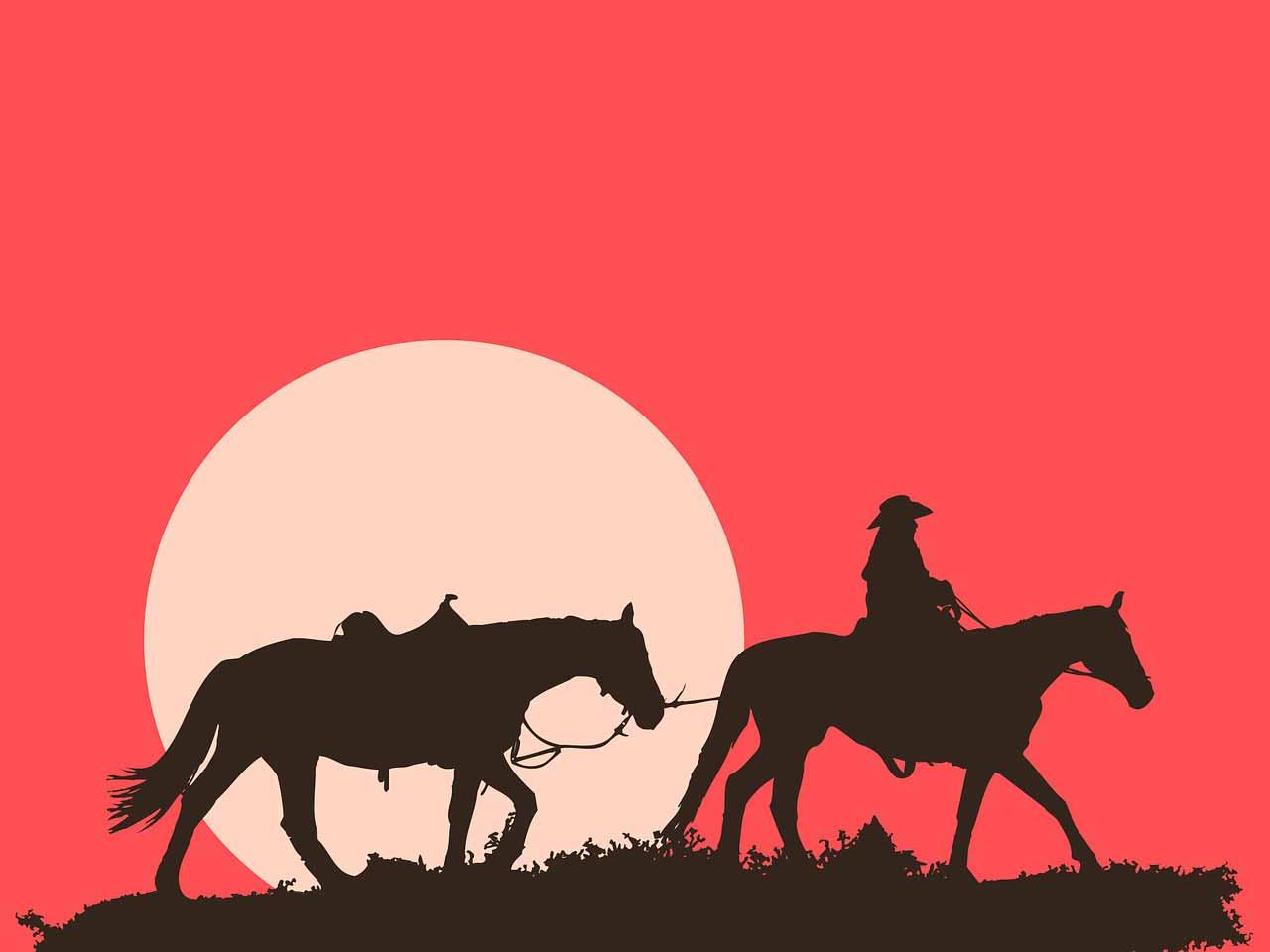 Un homme chevauchant un cheval