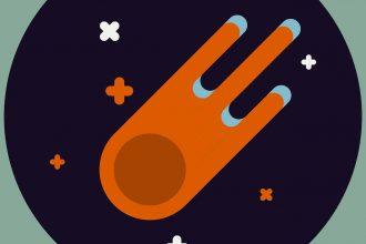 Une illustration représentant un astéroïde