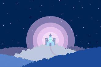 Une illustration représentant la nuit